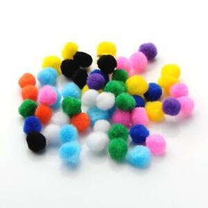 Purple 15mm Fluffy Yarn Pom Poms For Sewing Cardmaking /& Crafts Y13385 50