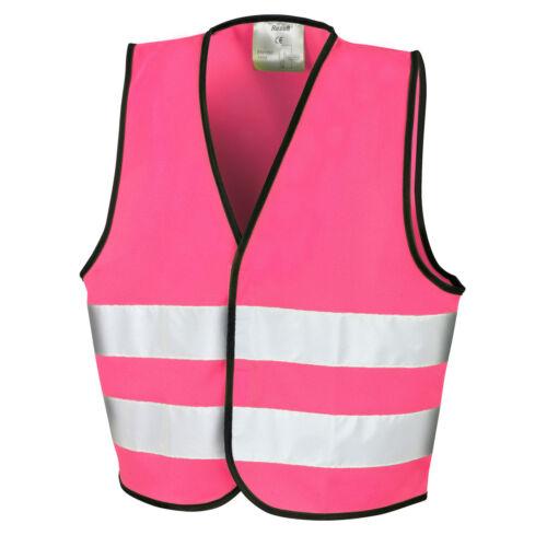 Hi Vis Pink High Viz Children Vest Waistcoat Jacket Kids Baby Personalise Custom