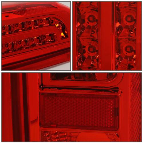 FOR 90-97 FORD F150 F250 BRONCO FULL LED TAIL BRAKE LIGHT 92 93 94 95 96 RED