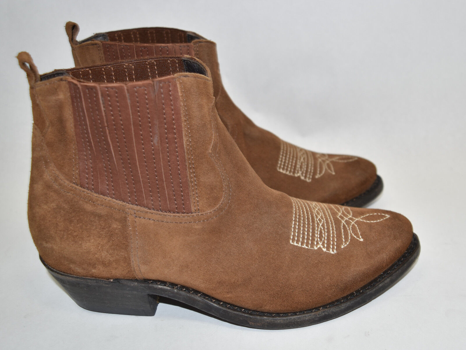 'crosby' Bootie Brown Suede Golden Western Goose New EwBF4xqZn