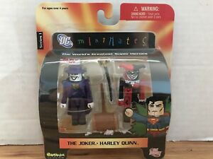 Dc Direct Mini Mates Le pack de 2 Joker et Harley Quinn Art Asylum, série 1