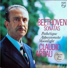 BEETHOVEN SONATAS / CLAUDIO ARRAU - PHILLIPS LP - HOLLAND PRESSING