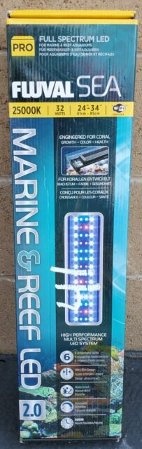 "FLUVAL SEA MARINE & REEF AQUARIUM 2.0 LED STRIP LIGHT 24-34"" 32w A3993 BRAND NEW"