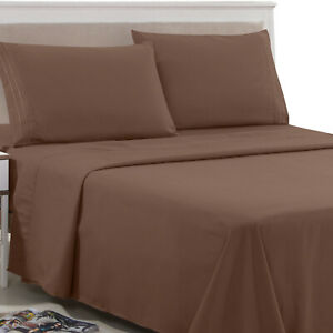 Egyptian Comfort 1800 Count 6 Piece Bed Sheet Set Luxury Deep Pocket Bed Sheets