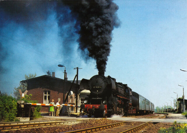 AK, Gersdorf b. Görlitz, Güterzugdampflok 52 1639 verläßt den Haltepunkt, 1992