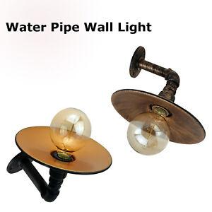 Vintage-Industrial-Ceiling-Wall-Light-Lamp-Metal-Water-pipe-Rustic-Steam-punk