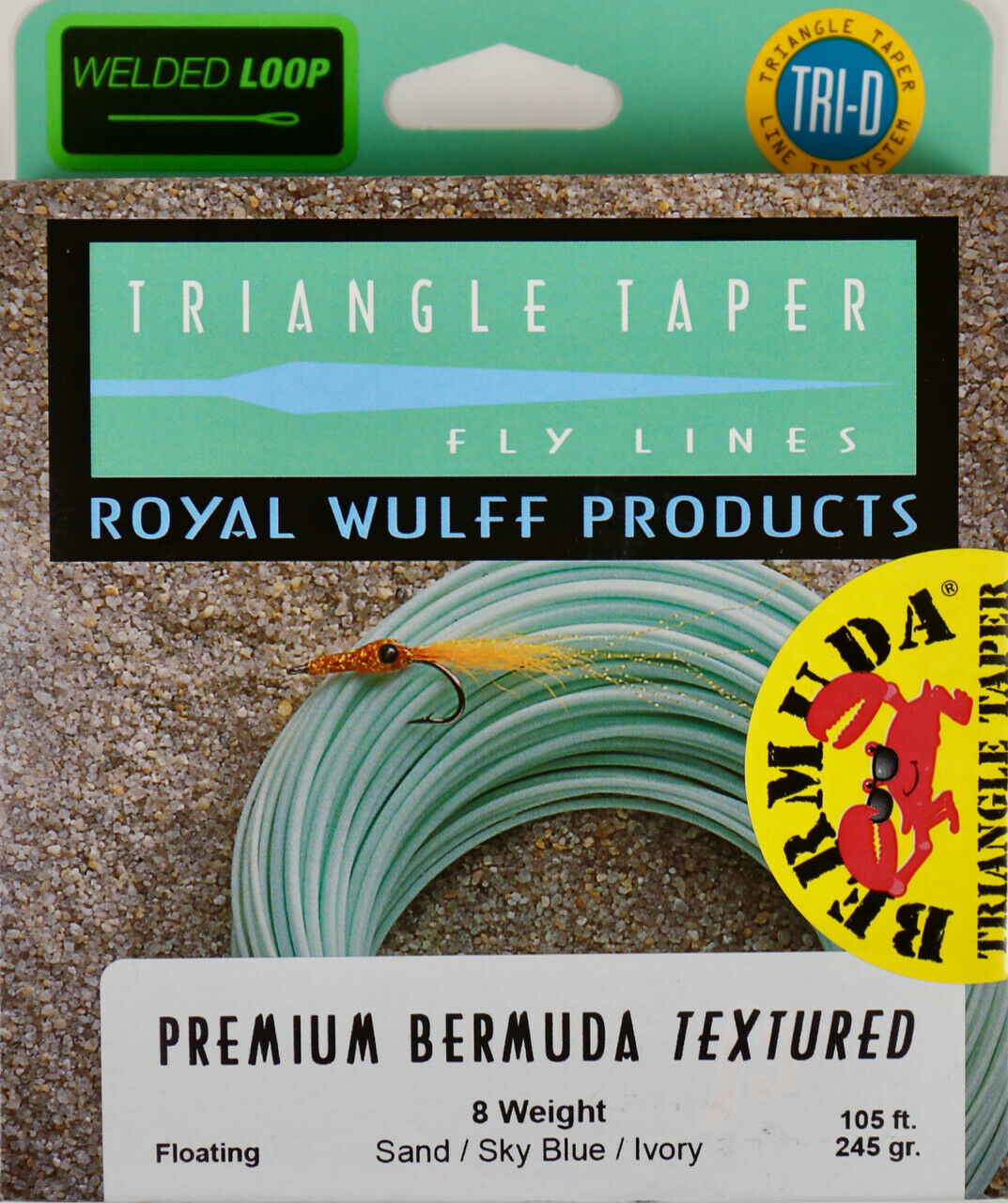 Royal Wulff Premium Bermuda Textured Saltwater 8 WT Fly Line FREE FAST SHIPPING