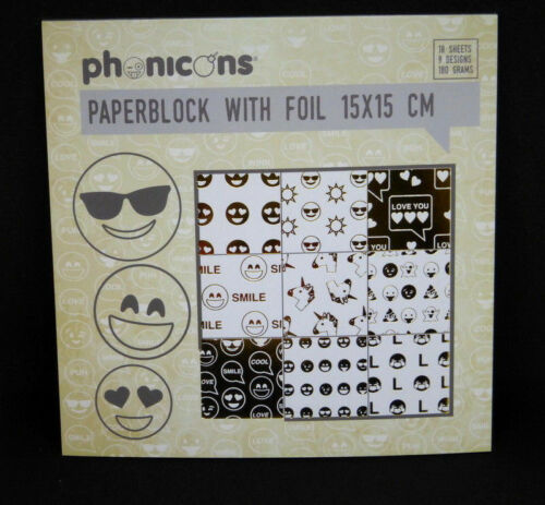 Hintergrundpapier Emoji #3 Desingblock 18 Blatt Scrapbooking Basteln