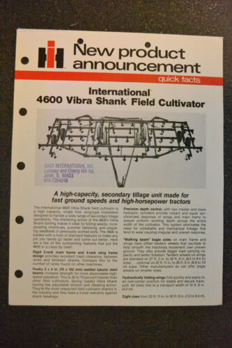 new product International Brochure 4600 Vibra Shank Field Cultivator