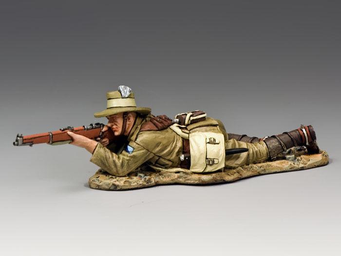 KING AND COUNTRY AUSTRALIAN LIGHT HORSE Lying Firing Rifle & Bayonet AL44 AL044