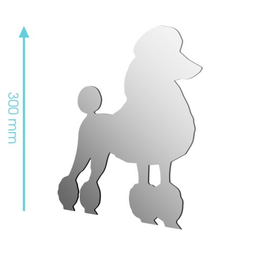 NEW Acrylic Poodle Dog Pet Animal Mirror Sizes 100mm to 1200mm