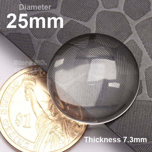 1 Inch Glass Cabochon 25mm Crystal Clear Glass Cabochons Transparent Round Shape