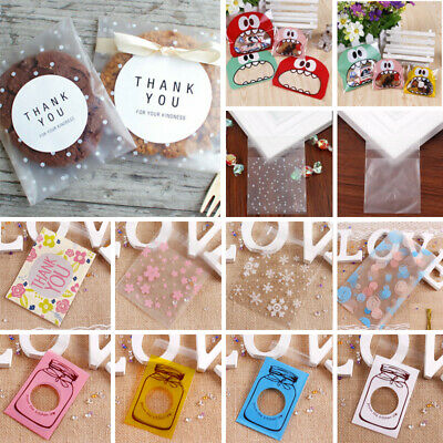 NEW White Star Party Wedding Favour Transparent Biscuit Bag Candy Bag 6L
