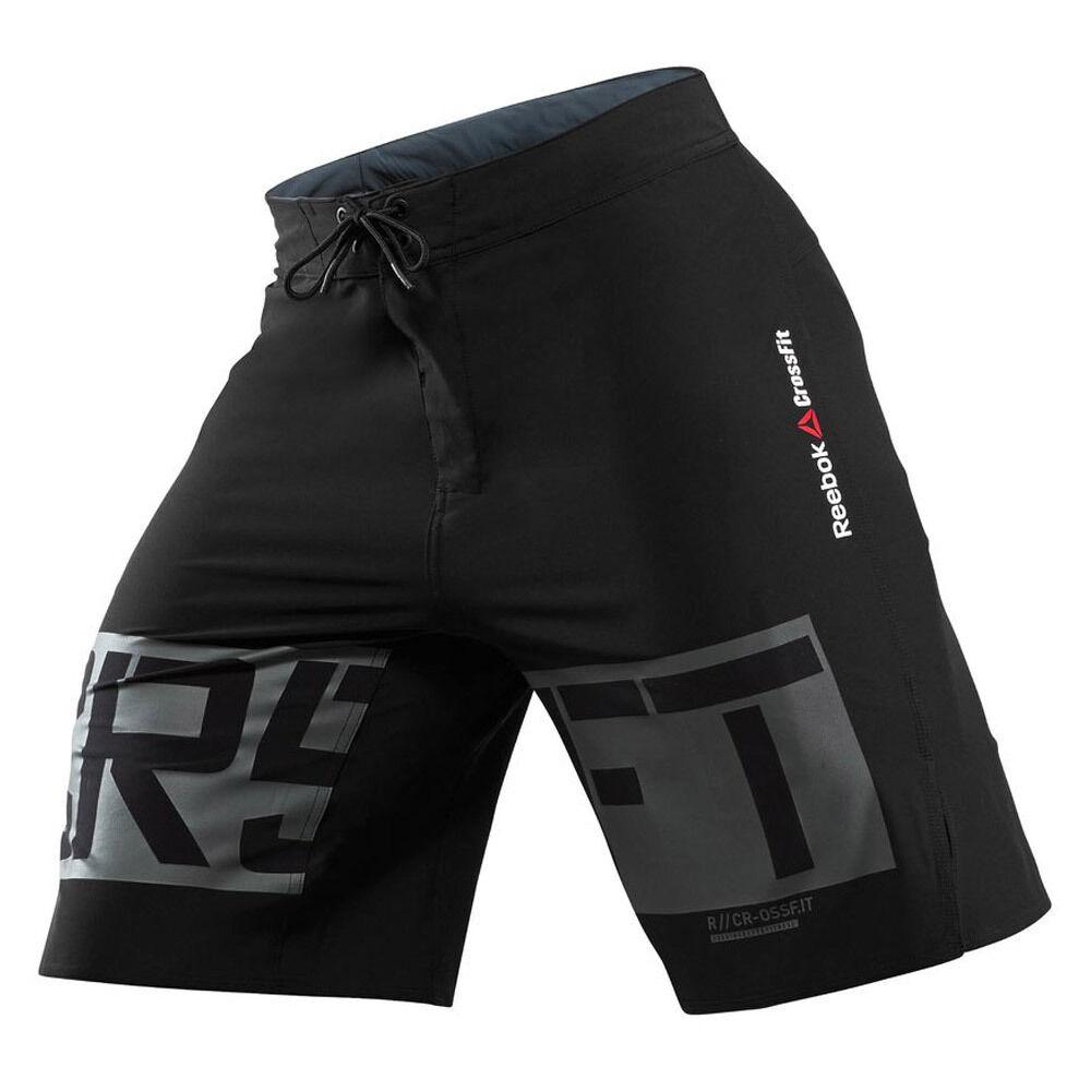YY  Herren Reebok Crossfit CF Shorts Spartan Performance Board BLK Tough Mud Race