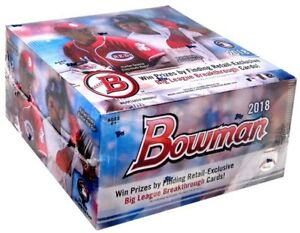 MLB-2018-Bowman-Baseball-Trading-Card-RETAIL-Box-24-Packs
