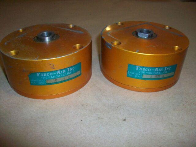 FABCO AIR PM36-3,500-E STACK OF 3 PANCAKE PNEUMATIC AIR CYLINDER W// REGULATOR