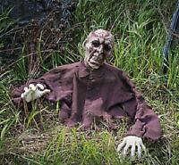 Halloween Party Haunted House Prop Zombie Ground Breaker W/ Posable Arms