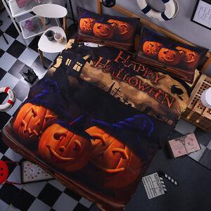 image is loading 3d bedding set halloween pumpkin king queen full