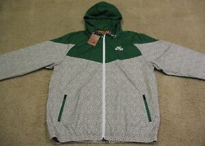 Nike Air Turtle Jacket Green Gray Hooded Windbreaker Hoodie NEW NWT ... fe0accedbc0