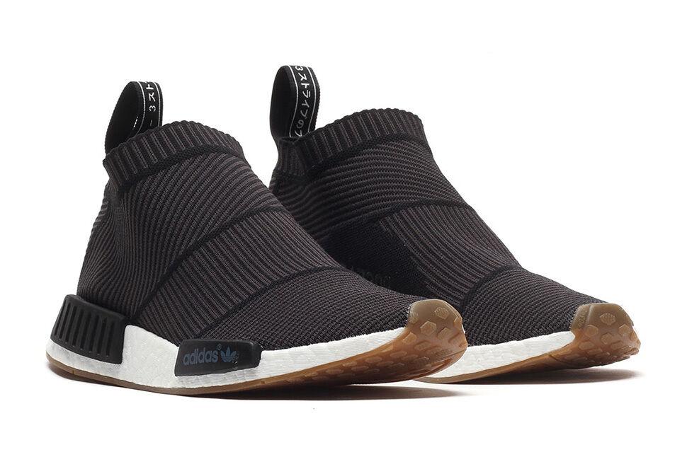 Adidas NMD CS1 City Sock PK Primeknit Black Gum Size 8. BA7209 ultra boost yeezy