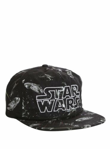 NEW W//TAGS Star Wars Sublimated Millenium Falcon Tie Fighter Snapback Hat