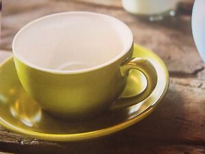 BEVANDE-GREEN-200ml-COFFEE-TEA-CUP-AND-SAUCER-SET-6-SETS-BRAND-NEW-COMMERCIAL