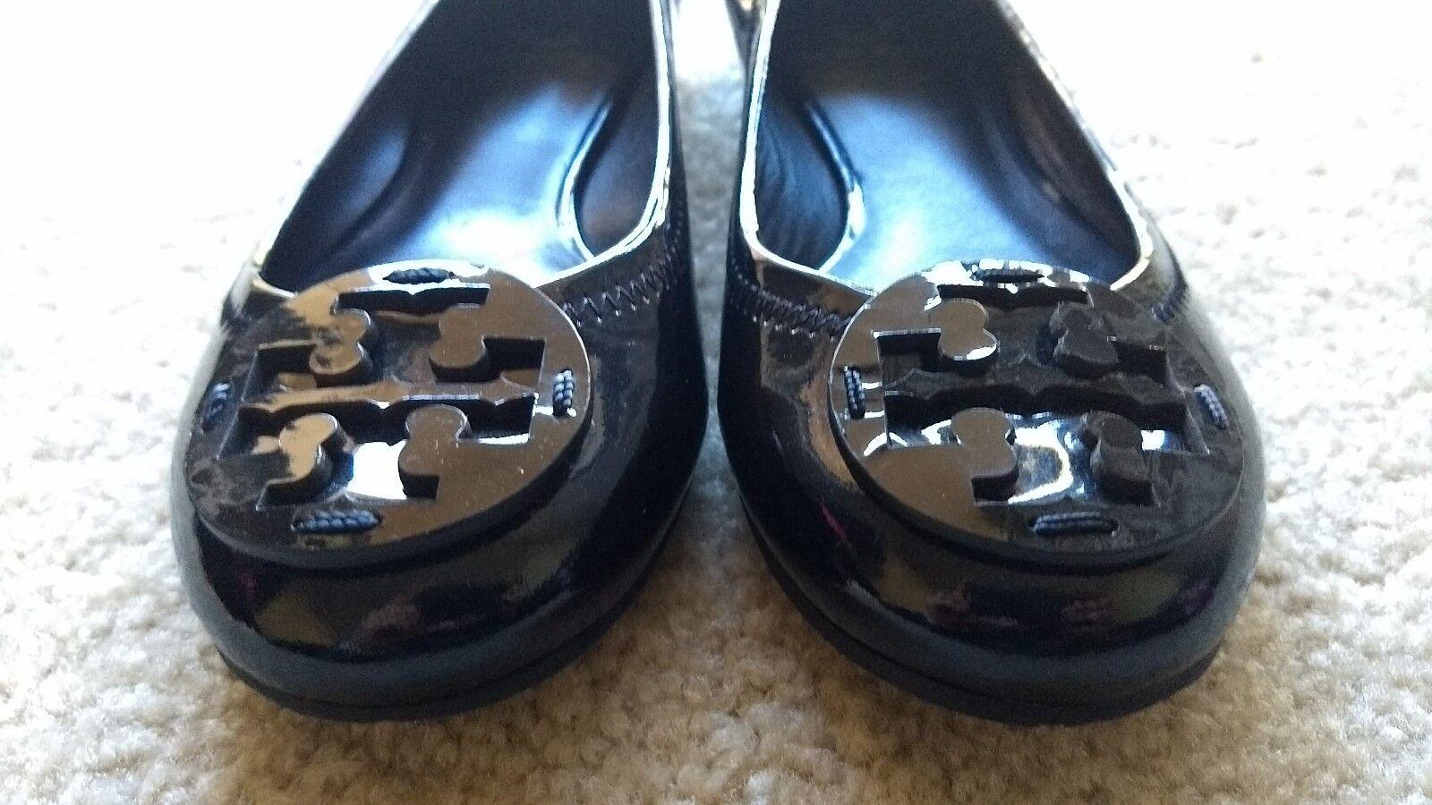 Tory Burch Black Patent Leather Reva Reva Reva Flats f2824e