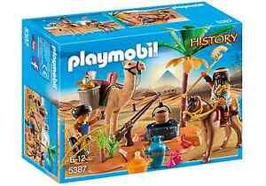 Playmobil-Egipto-Ref-5387-NUEVO-Soldados-Egipcio-Camello-y-Accesorios-Desierto