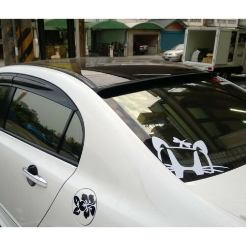 Flat Black 229 RRS Rear Window Roof Spoiler Wing For Honda 12~15 Civic US Coupe