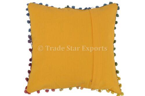 Ethnic Suzani Cushion Covers 16x16 Vintage Throw Pillows Decorative Cotton Shams