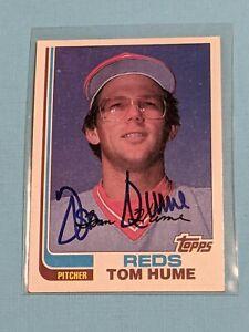 1982 Topps Tom Hume Signed Auto Autograph CARD Cincinnati Reds