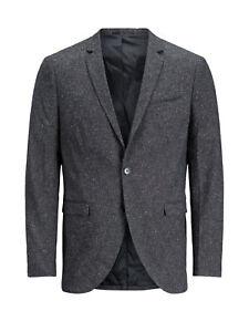 Jack Premium strutturata grigio 12124784 Jones Giacca Blazer SPq6WSn