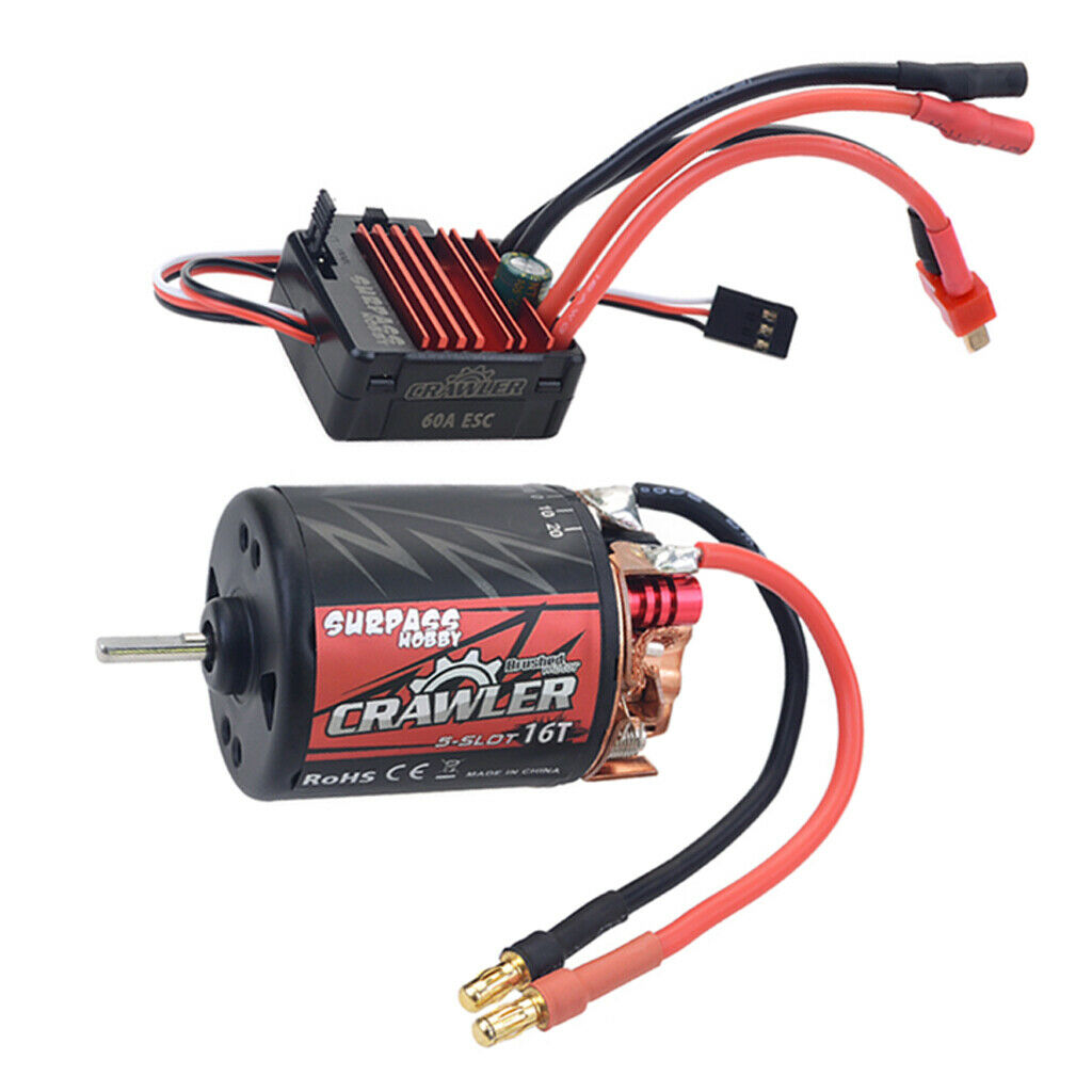 1 10 RC Waterproof Brushed 540 Brush Motor 16T 16T 16T RC auto Motor RC auto Accessory 01c013