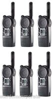 Qty 6 Motorola Cls1410 Uhf 1 Watt 2-way Radios With Single Chargers