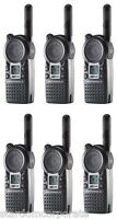 Qty 6 Motorola Cls1410 Uhf 1 Watt 2-way Radios With Single Chargers