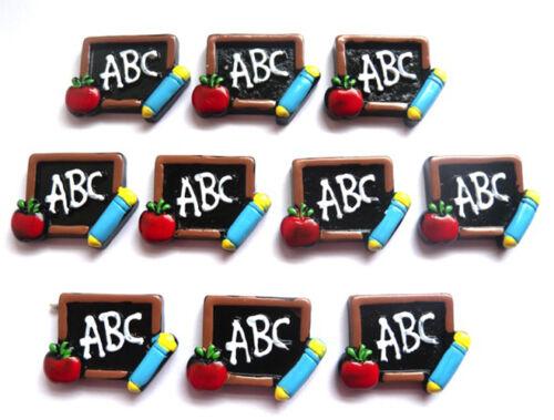 SCHOOL EDUCATION TEACHER FLATBACKS ABC BLACKBOARD WITH APPLE YOU GET 10