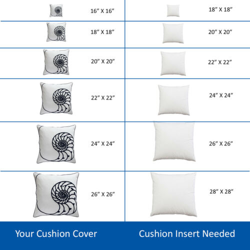 2 Pack of 16 x 16 Inch Cushion Pad Square Sofa Hollowfiber Inner 40 x 40cm