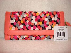 New Vera Bradley Trifold Wallet - Pixie Confetti - Free Shipping Retails $48
