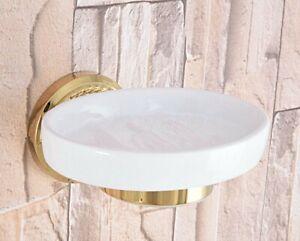 Gold-Color-Brass-Bathroom-Toilet-Paper-Holder-Roll-Towel-Bar-Holder-Zba587