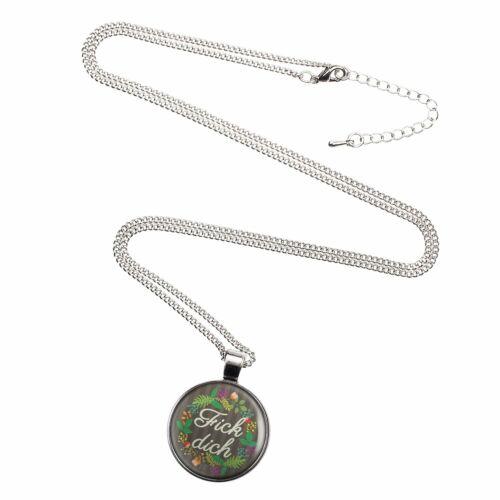 Mylery collar con motivo pudrete flores gracioso plata o bronce 28mm