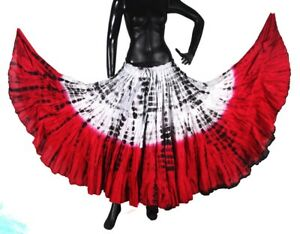 Beautiful Carnival Tribal Belly Dance 2 Tone Tiger Stripe Skirt #2 2018 Prix ​​Le Moins Cher De Notre Site