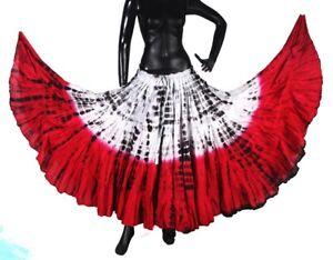 Beautiful Carnival Tribal Belly Dance 2 Tone Tiger Stripe Skirt #2 2018 Prix Le Moins Cher De Notre Site