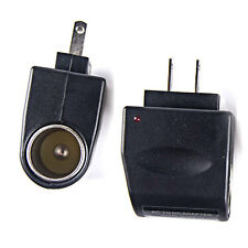 2 x 120V AC Wall Power to 12V DC Car Cigarette Lighter Adapter Converter US Plug