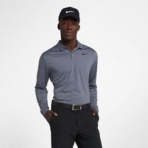 b5306c1ca Nike Dri-Fit Victory Men's Long Sleeve Standard Fit Golf Polo M Gray ...