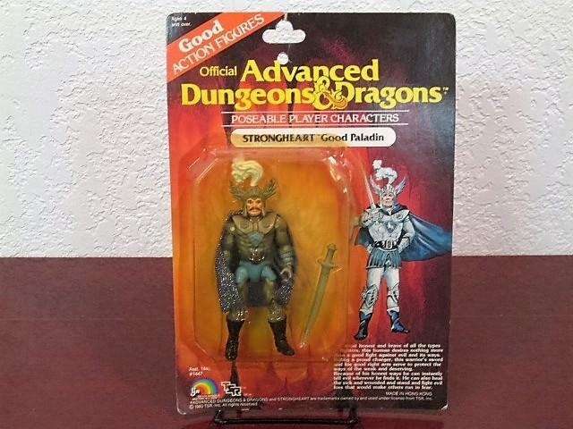 1983 ADVANCED DUNGEONS & DRAGONS POSEABLE STRONGHEART GOOD PALADIN FIGURE MOC