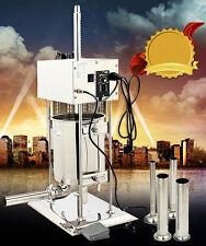 110v Electric Sausage Stuffer Meat Maker Filler Machine 15l 33lb Stainless Steel