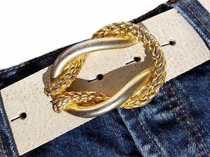 Angemessen Gürtelschnalle Knoten Marine Gold Lightgold Wechselschnalle Buckle Schließe 4cm