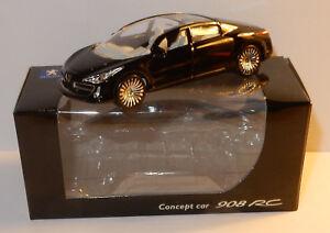 peugeot concept car 908 rc noir 3 inches Norev 1//64 Neuf  boite d/'origine
