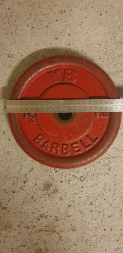RARE OLD SCHOOL 7.5KG YORK BARBELL WEIGHT PLATE