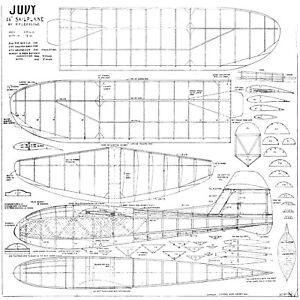 Audacieux Judy Liverpool Model Shop Free Flight Glider Plan-afficher Le Titre D'origine Avec Les éQuipements Et Les Techniques Les Plus Modernes